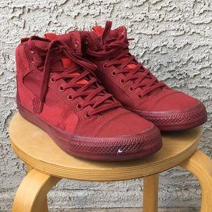 Converse 11.5 men's red high tops